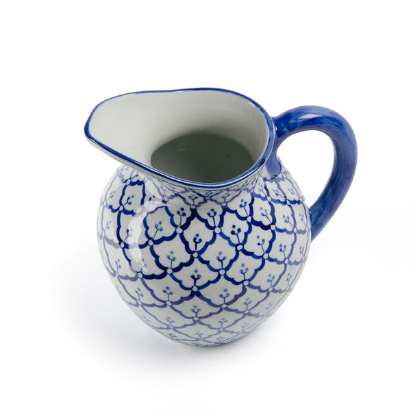 Blue and White Pineapple Pitcher
