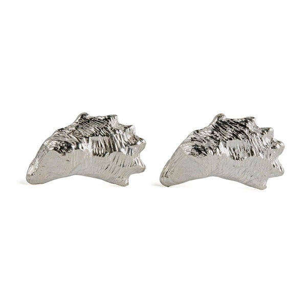 Sterling Oyster Shell Cufflinks