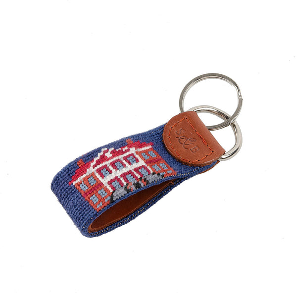 Drayton Hall Needlepoint Key Fob