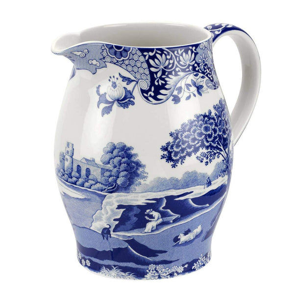 Blue Italian Pitcher