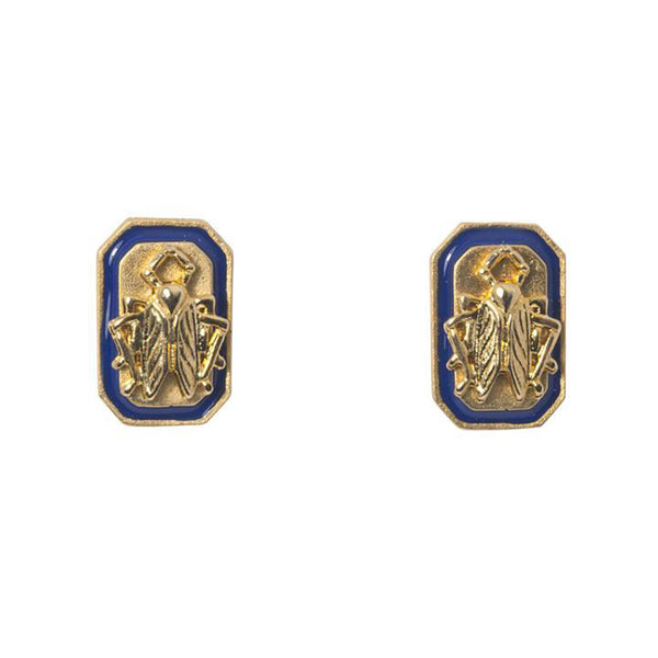 Goldbug Tangled Up in Blue Stud Earrings