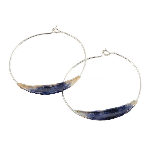 Indigo Bridge Hoops by Verso