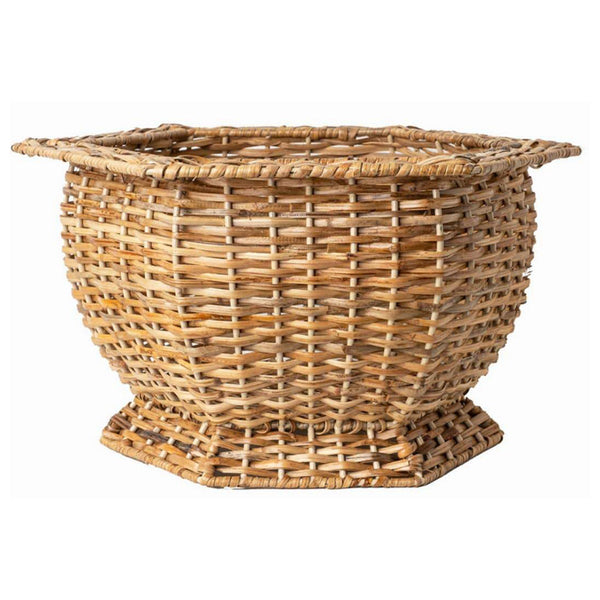 Wicker Hexagonal Planter