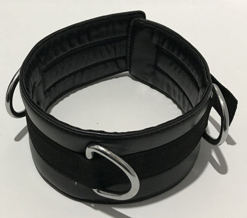 3 D Rings Bondage Collar