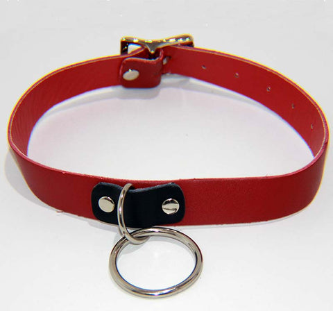 Kitty Red Collar with O Ring Light
