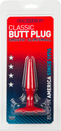 Butt Plug - Smooth - Slim/Small (Red)
