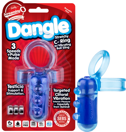 Dangle Stretchy C-Ring (Blue)