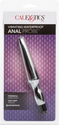Vibrating Waterproof Anal Probe (Silver)