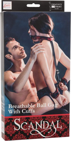 Breathable Ball Gag With Cuffs