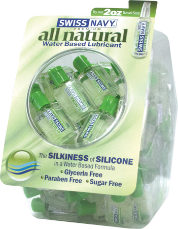All Natural Lubricant - Fishbowl (20ml) (100 X Display)