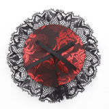 Black and Red Lace Overlay Nipple Pasties