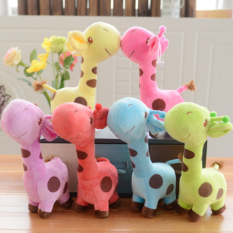 1 PC Unisex Baby Kid Child Girls Cute Gift Plush Giraffe Soft Toy Animal Dear Doll Child Birthday Happy Gifts