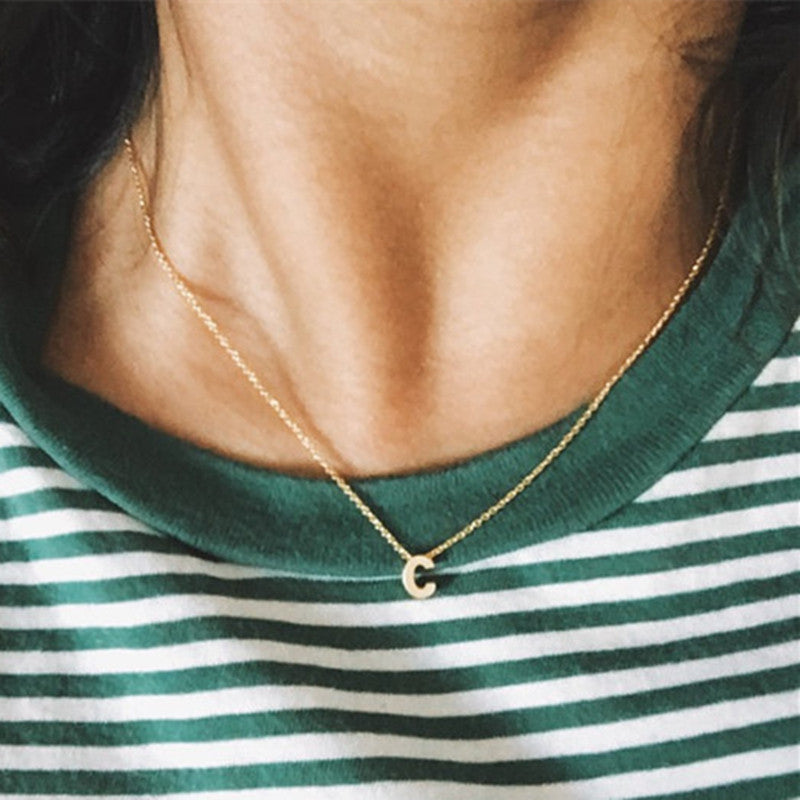 Gold initial necklace gold letter necklace initials name necklaces gold initial necklace gold letter necklace initials name necklaces pendant for women girls gift aloadofball Gallery
