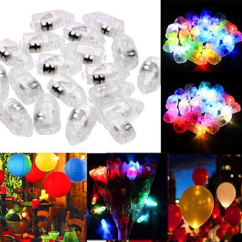 1/10/20/30 Mini Small LED Flash Balloon Lamps For Lantern Party Decor - babiesrhere