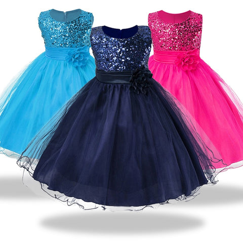 1-14 yrs teenagers Girls Dress Wedding Party Princess Christmas Dresses for girl - babiesrhere