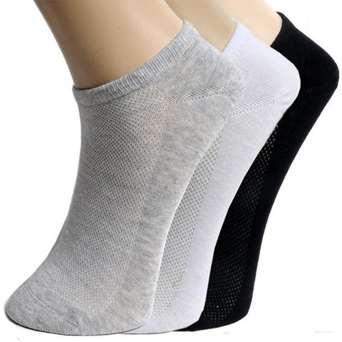 1 Pair/ 5 Pair Men Summer Soft Breathable Ankle Socks Low Cut Crew Casual Cotton Blend Socks - babiesrhere
