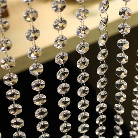 100cm Home Crystal Clear Bead Hanging Wedding Decoration Party Festive Supplies Decor - babiesrhere