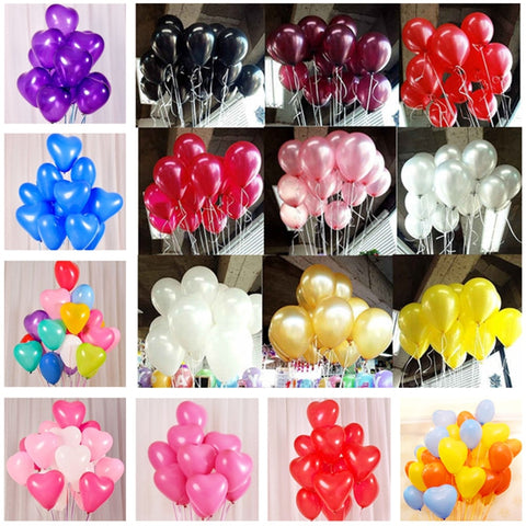 10pcs Black Latex Balloons 10 inch Latex Helium Inflatable Party Decoration Balloons - babiesrhere