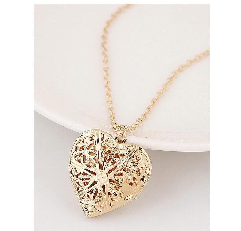 gift silver image chain pendant gold is itm ladies valentines jewellery s day loading heart necklace