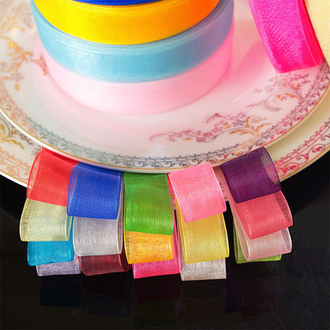 Organza Ribbon Sewing Tape Accessory Chiffon Fabric Valentines Day Gift Packing Patchwork
