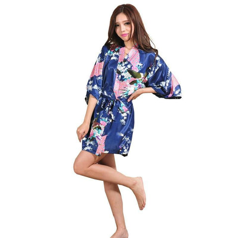 Silk Satin Wedding Bride Bridesmaid Robe Short Kimono Robe NightRobe Bath Robe Fashion Dressing Gown