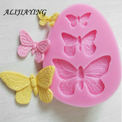 1Pcs Sugarcraft Butterfly Silicone molds fondant mold cake decorating tools - babiesrhere