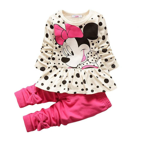 LZH Children Clothes Autumn Winter Kids Set T-shirt+Pant Outfits Girls Sport Suit Toddler