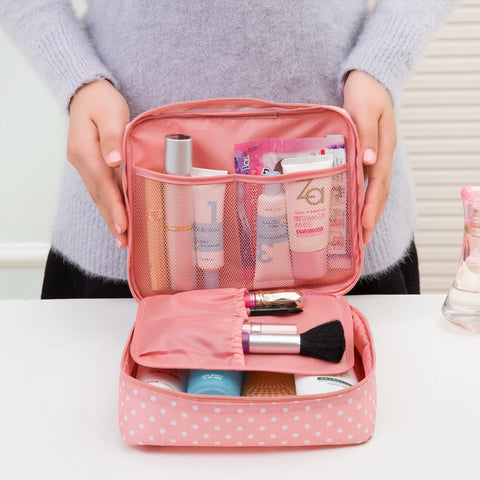 Toiletry Cosmetic Bag Waterproof Makeup Make Up Wash Organizer Storage Pouch Travel Kit Handbag