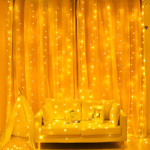 2/3/6M Curtain LED String Light Fairy Icicle LED Christmas Garland Wedding Party Decoration - babiesrhere