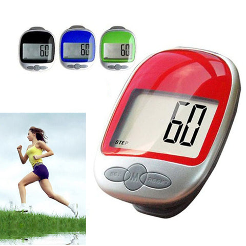 Electronic Portable Waterproof Digital LCD Run Step Pedometer Walking Calorie Counter