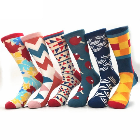 26 Colours Crew Cotton Happy Socks Men/Women British Style Casual Fashion Atr Socks - babiesrhere