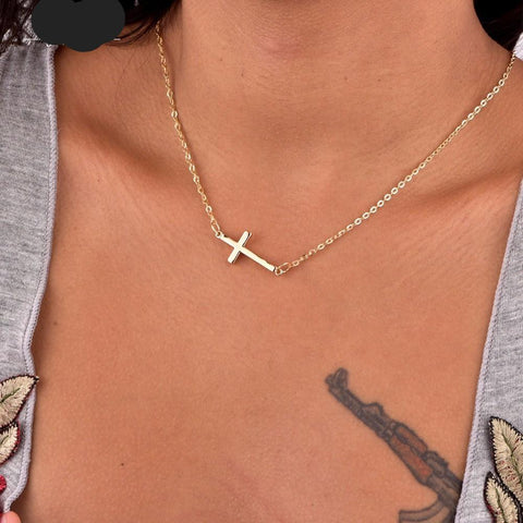 Fashion jewelry New cross pendant necklace gift  for women girl