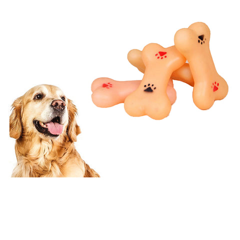 Puppy Dog Pet Toys Resistant To Bite Play Squeeze Squeaky Training Faux Bone Chew Toys