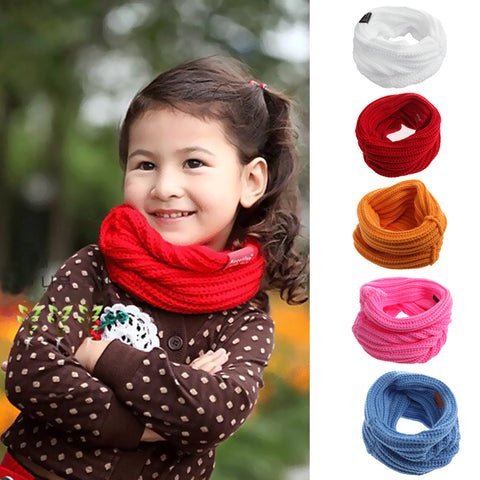 Children Autumn Winter Warm red Scarf Scarves Baby Girl Sweet Warm Neck Scarves Bibs - babiesrhere