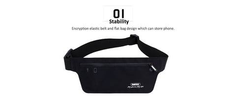 Sport Mobile Phone Pouch Belt Waist Pouch Gym phone zipper Waterproof Fiber Pouch