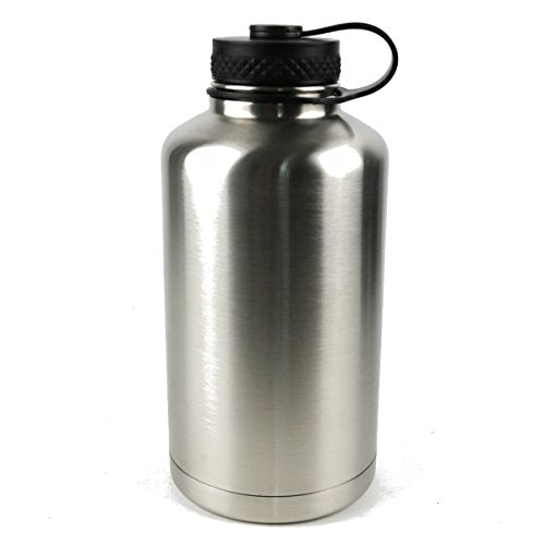 c80e56d33d Amazon.com : Quality Excellence Insulated Double Wall Stainless Steel Water  Bottle (Silver, ...