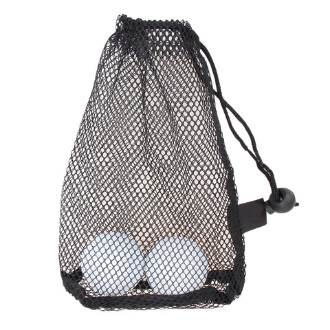 Black Nylon Mesh Net Bag Pouch Golf Tennis 15 Balls Holder Hold Ball Storage Closure Training Aid - babiesrhere