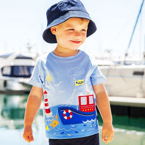 Boys Tops Summer 2017 Children T shirts Clothes Kids Fille 100% Cotton Character Print Baby Boy