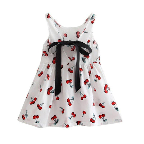 Dresses For Girls Summer Dresses Sleeves Printing Pattern cotton clothes Vestidos
