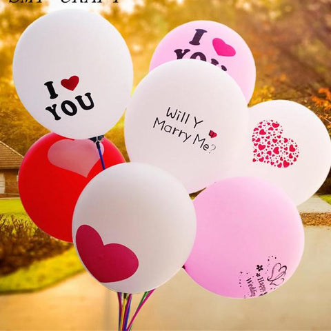 Valentines Latex Balloons Air Balls Wedding Party Valentines Day Propose Marriage Float Balloon