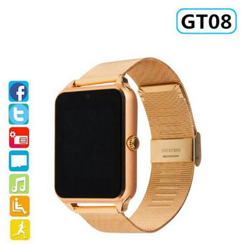 Smart Watch GT08 Plus Metal Strap Bluetooth Wrist Smartwatch Support Sim TF Card - babiesrhere