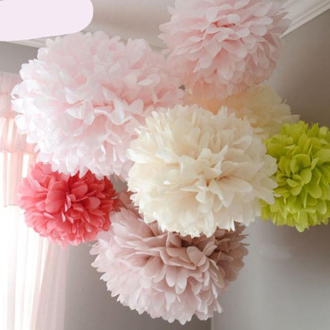 TOMOSON: FENGRISE Pom Poms 1pcs 30cm Tissue Paper Artificial Flowers Balls Wedding, Car Decoration Crafts