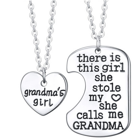 Grandma's Girl Charm Pendant (Shipped From USA) - babiesrhere