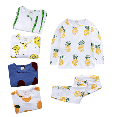 Fruits cartoon girl's clothing sets boys clothing sets baby girl clothes - babiesrhere