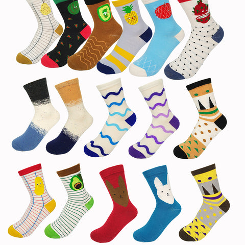 New Fashion Colorful Women Cotton Socks Cartoon Cute Fruit Funny Socks - babiesrhere