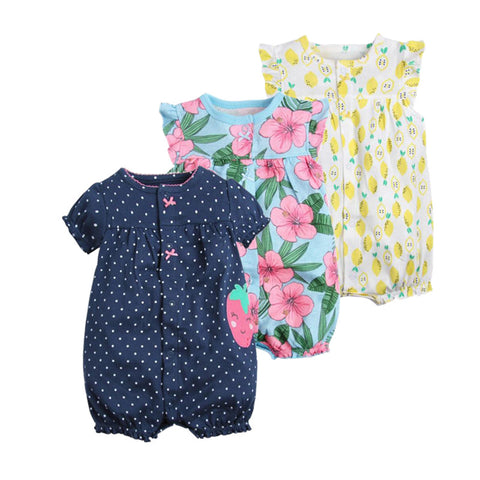 Baby girl clothes one-pieces jumpsuits cotton short romper infant girl - babiesrhere