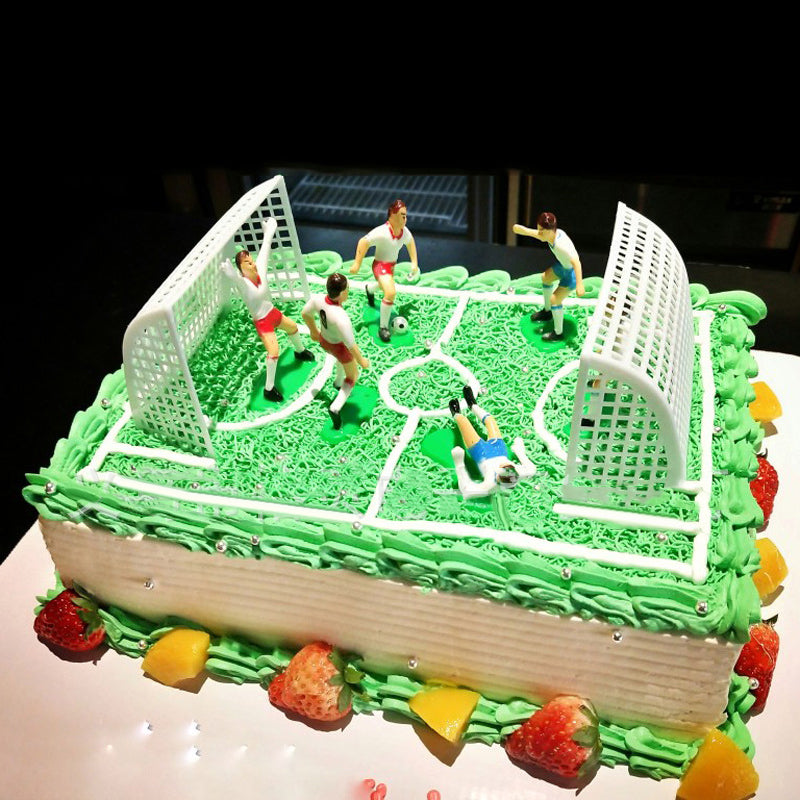 8pcs Set Soccer Football Cake Topper Player Birthday Cake