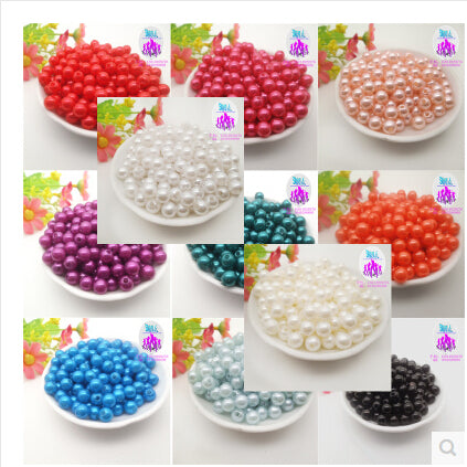8mm 100pcs 18 color, ABS Imitation Pearls Beads, Making jewelry diy beads, Jewelry Handmade necklace - babiesrhere