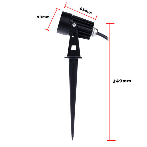 New Design 3W Outdoor Landscape LED Lawn Light Garden Spot Light Spike Energy Saving