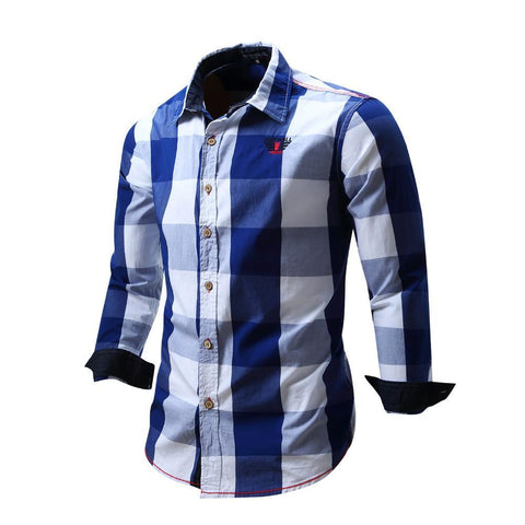 New Men's shirt Long Sleeve Shirt Mens Dress Shirts Brand Fashion Business Style Shirts Cotton